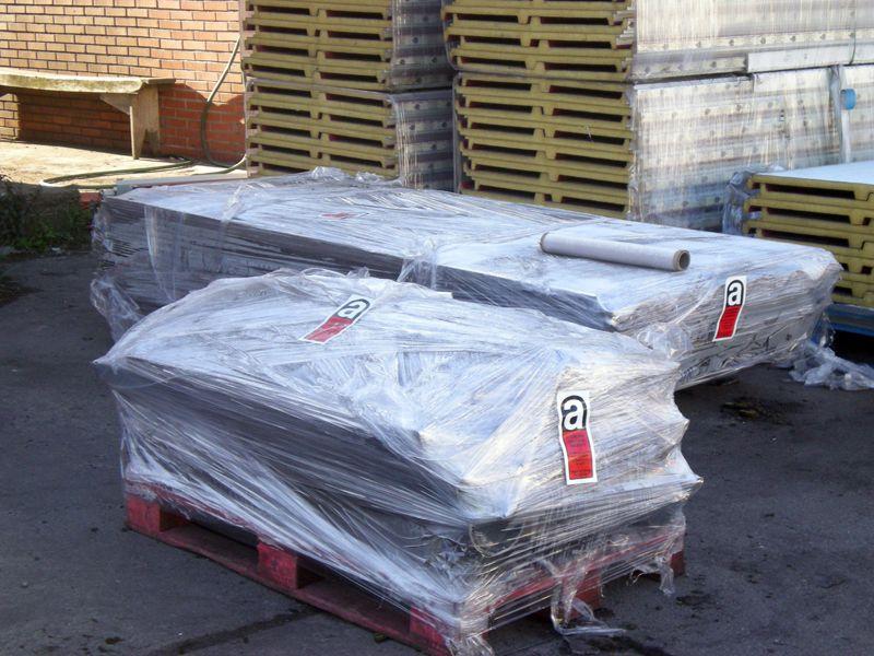 Homologaciones - Paquetes de amianto perfectamente paletizados para su gestión